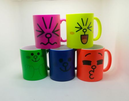 Fluorescent sublimation mug