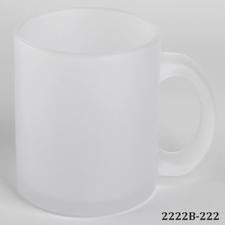 11oz Frosted Glass Sublimation Mug