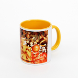 11 oz handle & inside yellow sublimation mug