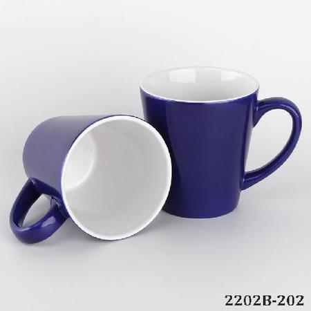 Conical Shape Magic Sublimation Mug Blue