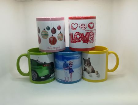 Full Color White Patch Sublimation Mug