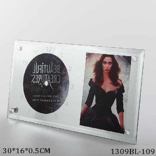 Sublimation Glass Clock Photo