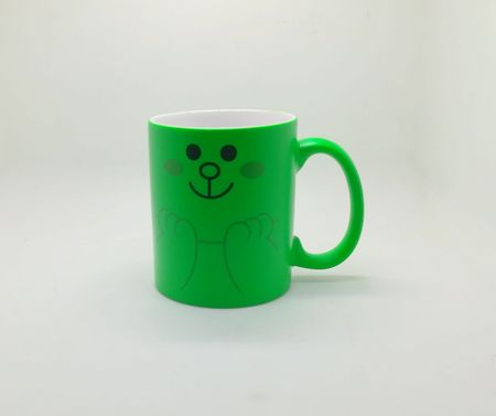 Fluorescent sublimation mug green