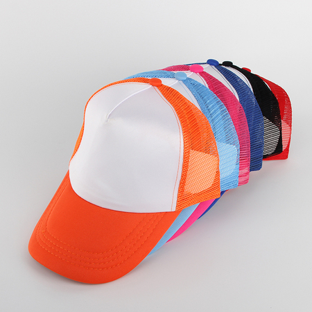 Blank Colorful Cap for Heat Transfer