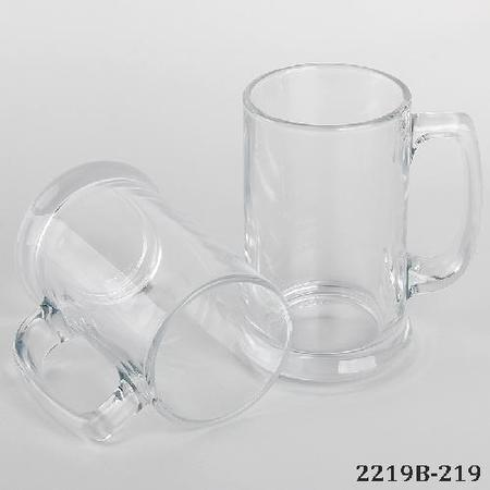 Broad Bottom Glass Beer Sublimation Mug