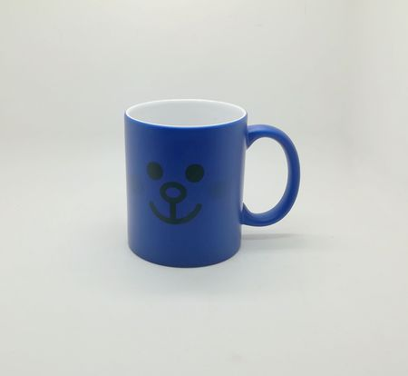 Fluorescent sublimation mug blue