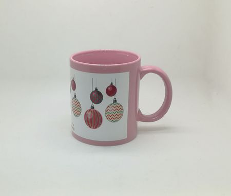 Full Color White Patch Sublimation Mug Pink
