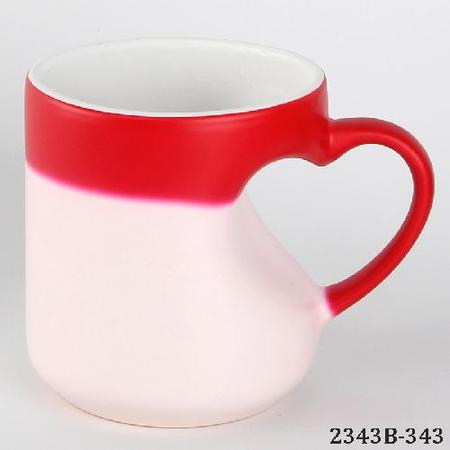 Heart Body Magic Sublimation Mug Red