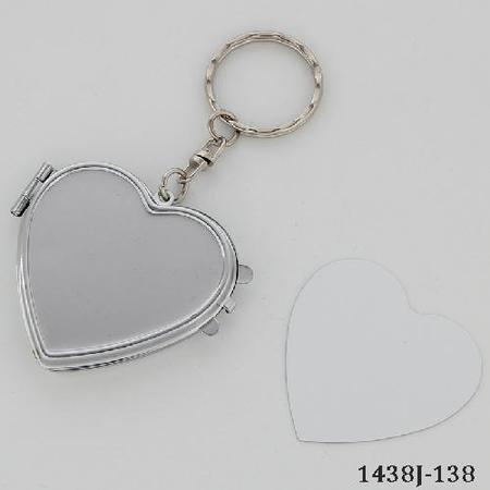 Blank Compact Mirror for Sublimation/Heart