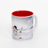 11 oz inside red sublimation mug