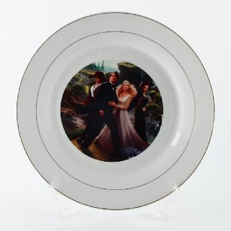 10 inch Ceramic Sublimation Plate Golden Rim