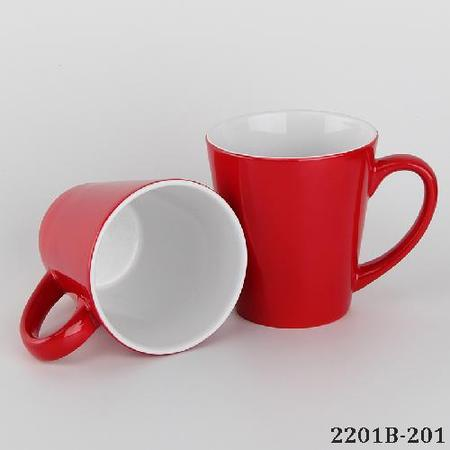 Conical Shape Magic Sublimation Mug Red