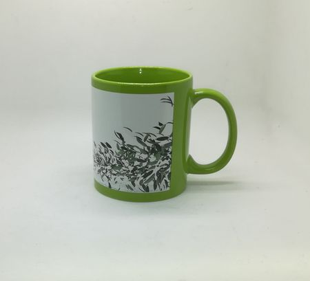 Full Color White Patch Sublimation Mug Green